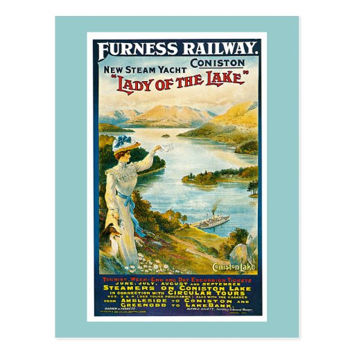 Furness Railway Vintage Travel Advertisement Post Cards