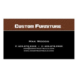 Furniture / Carpenter Business Card Wood Grain