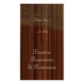 Furniture restoration business card