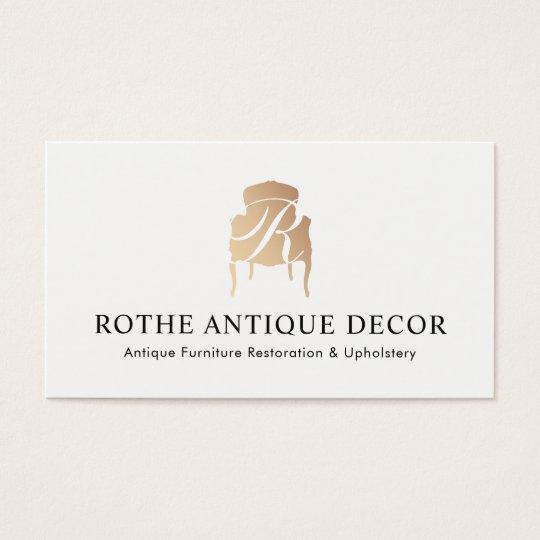 Furniture Restoration & Decor Gold Monogram Logo Business