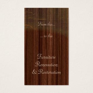Furniture restoration or refinishing business card