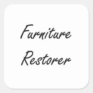 Furniture Restorer Artistic Job Design Square Sticker