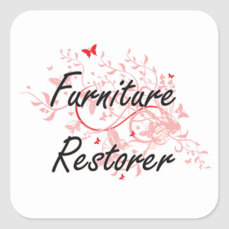 Furniture Restorer Artistic Job Design with Butter Square Sticker
