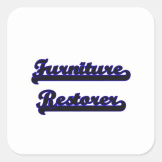 Furniture Restorer Classic Job Design Square Sticker