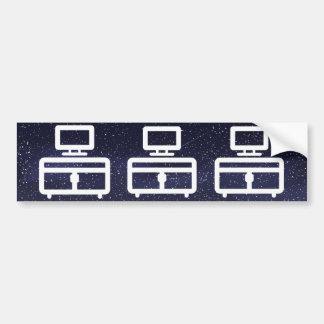 Furniture Tables Icon Bumper Sticker