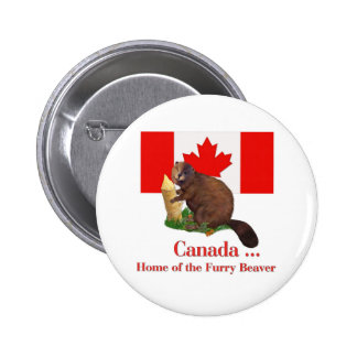 Furry Beaver 6 Cm Round Badge