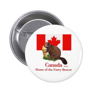 Furry Beaver 6 Cm Round Badge