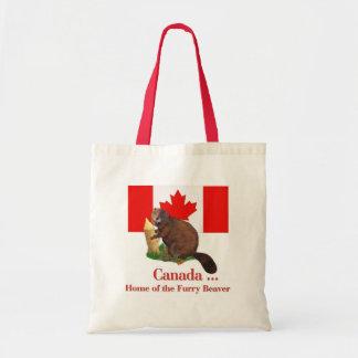 Furry Beaver Tote Bag