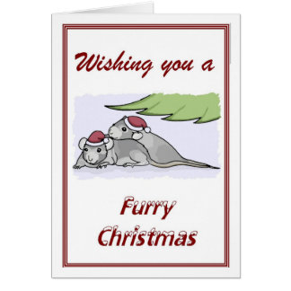 Furry Christmas Card