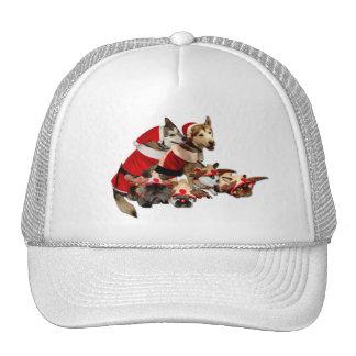 Furry Christmas Friends Mesh Hats