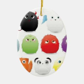 Furry creatures ornament