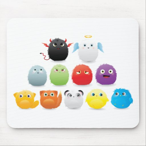 Furry Creatures Mouse Pad