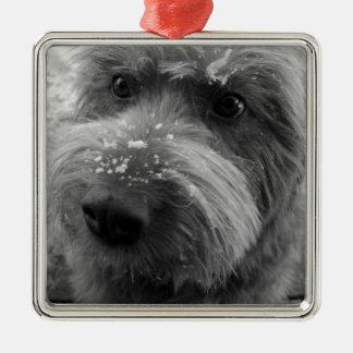 Furry Dog Christmas Ornaments