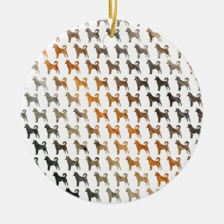 Furry Dogs Christmas Ornament