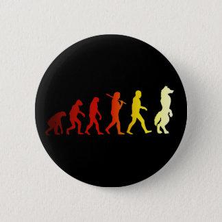 Furry evolution 6 cm round badge