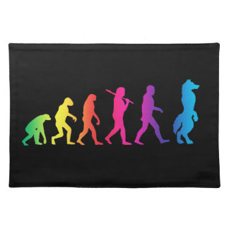 Furry evolution placemat