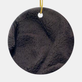 Furry fabric christmas tree ornament