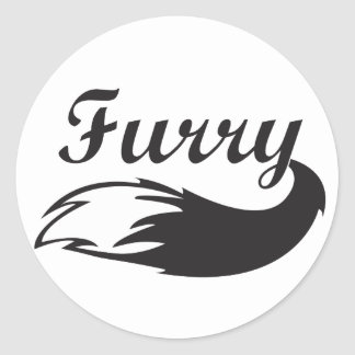Furry Fandom Round Sticker