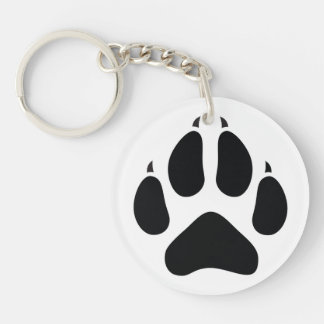 Furry Fandom Single-Sided Round Acrylic Key Ring