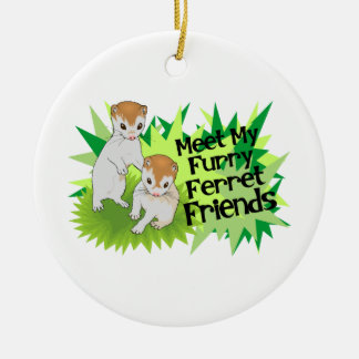 Furry Ferret Friends Christmas Tree Ornaments
