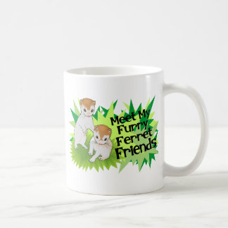 Furry Ferret Friends Basic White Mug