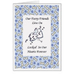 Furry Friends Live On Locked In Our Hearts 4 Card