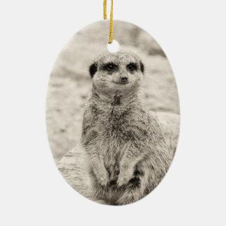 Furry Little Meerkat Christmas Ornament