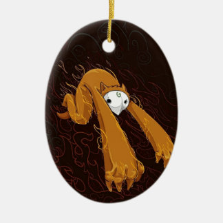 Furry Monster Funny Photo Colorful Design Christmas Ornament