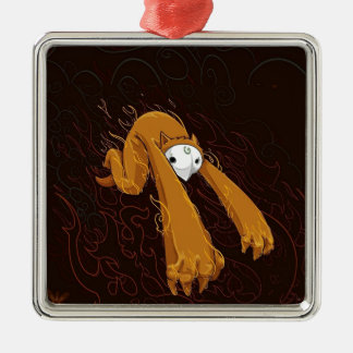 Furry Monster Funny Photo Colorful Design Christmas Tree Ornaments