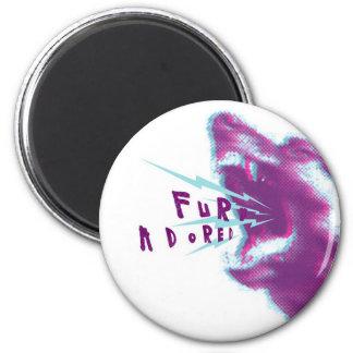 Fury Adored 6 Cm Round Magnet