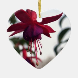 Fuschia Ceramic Heart Decoration