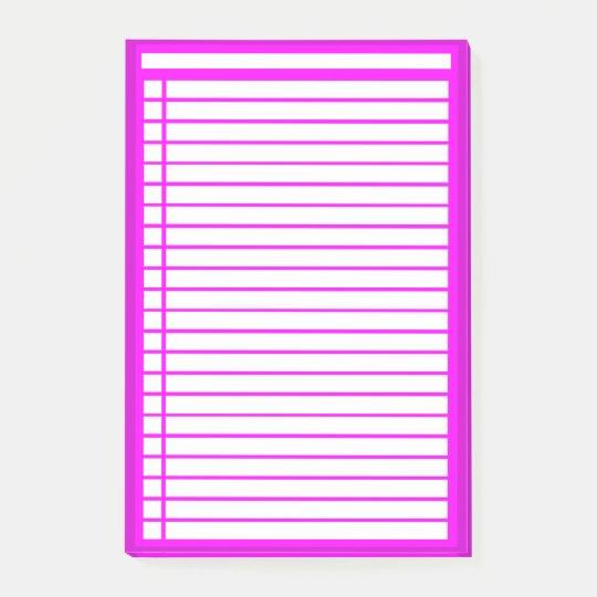 Fuschia Checklist Post-it Notes