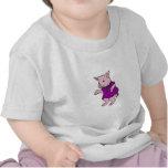 Fuschia Dressed Piggy Shirts