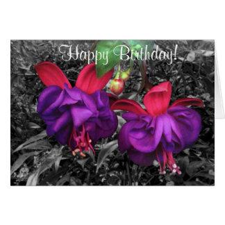 Fuschia Flower Card