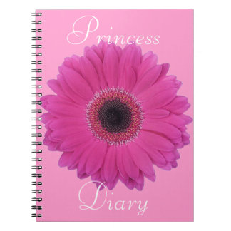 Fuschia Flower Princess Diary Notebook