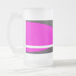 Fuschia Frosted Glass Beer Mug