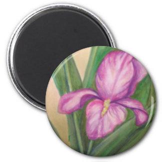 Fuschia iris magnet
