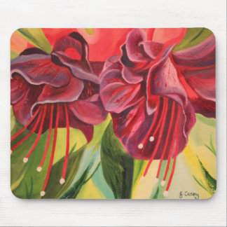 Fuschia Oil Painting Mousemat By Joanne Casey