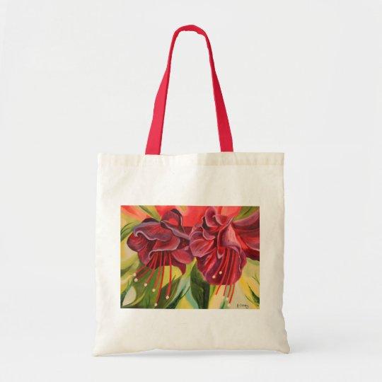 Fuschia Oil Painting Print Bag By Joanne Casey