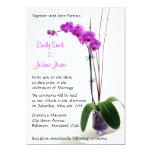 """Fuschia Orchid Wedding Invitations 5"""" X 7"""" Invitation Card"""