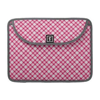 Fuschia pink plaid sleeve for MacBooks