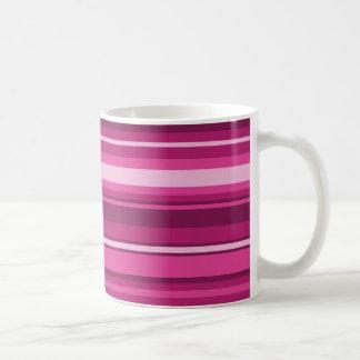 Fuschia stripes coffee mug