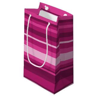 Fuschia stripes small gift bag