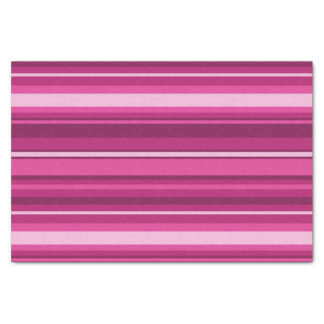 Fuschia stripes tissue paper