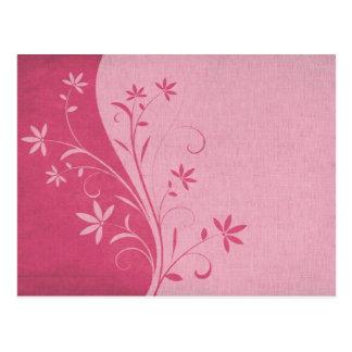 Fuscia Floral Postcard