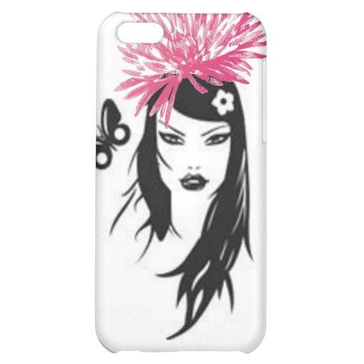 Fusha Pink Flower, Aisan Girl  iPhone 5C Covers