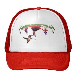 Fushia and Hummingbird Trucker Hats