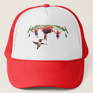 Fushia and Hummingbird Trucker Hat