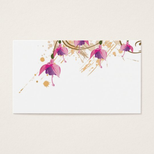 Fushia flowers Profile Card