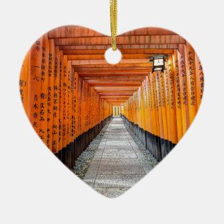 Fushimi Inari Shrine, Kyoto Japan Ceramic Heart Decoration